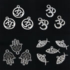 10pcs Yoga JESUS Hamsa Jewelry Findings Making Pendant fit Silver Accessories