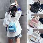 Convertible Shiny Faux Leather Small Mini Backpack Purse Shoulder Bag Cute