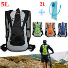New Bicycle Hydration Camel Backpack Bag + 2L Water Bag Cycle Hiking 5L Bike