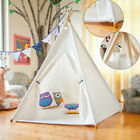 Children Castle Kids Play Tent Cotton Canvas Teepee Tent Playhouse Indian Styles