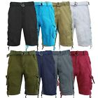 Mens Cargo Shorts With Belt 30 32 34 36 38 40 42 44 Casual C