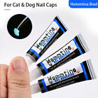 5pcs Pet Dog Cat Nail Covers Claw Paws Caps Soft Gel Protector Adhesive Glue