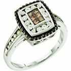 0.50 ct 14 ct Gold White, Brown & Black Diamond Women Fashion Invisible Ring