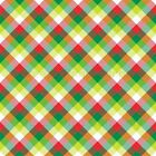 Green, red, lime and white plaid craft vinyl sheet - HTV -  Adhesive Vinyl -  Ch