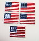 US American Flag Iron on Patches 2.5 x 1.75 in. United State