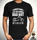Biker Dad T-shirt Motorcycle Cool Father Husband Birthday Present Gift Top Mens