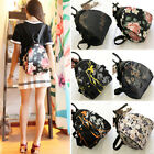 Convertible Floral Nylon Small Backpack Rucksack Shoulder Bag Travel Purse