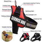 Service Dog Vest Harness Adjustable Patches Reflective Small Large Medium XS-XL