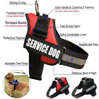 Service Dog Vest Harness Adjustable Patches Reflective Small Large Medium XS XL