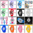 Kids Students LED Digital Alarm Date Water Resistant watch Unisex Quartz Watches