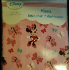 Disney Minnie Fitted Sheet / Drap-House for Standard Crib Size Crib Matress