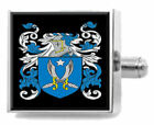 Rixon England Heraldry Crest Sterling Silver Cufflinks Engraved Message Box