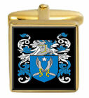 Rixon England Family Crest Surname Coat Of Arms Gold Cufflinks Engraved Box