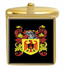 Matchet England Family Crest Surname Coat Of Arms Gold Cufflinks Engraved Box