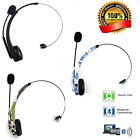 Wireless Bluetooth Trucker Noise Cancelling Headset Over Head with Mic PC PS3