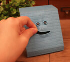 Blue Face Bank Saving Sensor Coin Money Eating Box Facebank Cute Piggy Gift
