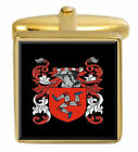 Bloor England Family Crest Coat Of Arms Heraldry Cufflinks Box Set Engraved