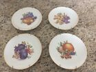 "Vintage Set of 4 Dresden Hutschenreuther Selb PASCO 8"" Fruit Salad Accent Plates"