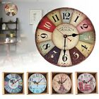 Room Antique Decor Wall Clocks Decoration Clock Shabby Chic Retro Kitchen 05F2