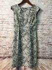 Women's Dress Size 2 Reptile Print Stretch Sheath CALVIN KLIEN # F304