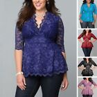 affordable plus size clothes - Women Clothing Top Plus Size Womens Shirt Sleeve Blouse 1x=3x Tunic