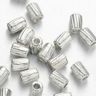 4mm Barrel Tube Bali Sterling Silver Plated Spacer Beads NON TARNISH Beading
