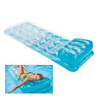 Outdoor Water Floating Sleeping Bed Single Inflatable Beach Lounger Backrest USA