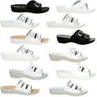 New Women's Inblu Slippers Shoes Home Outdoor Work White Comfort Shoe SIZE