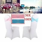 Spandex Stretch Wedding Party Chair Cover Band Sashes With Buckle Bow Slider  UR