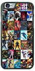 DC Comic Marvel Super Hero Collage Phone Cover for iPhone 7 Samsung 8 HTC LG G5