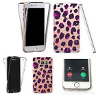 Silicone 360° Full Protection Cover Case For Most Mobiles girly pattern