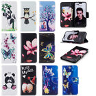 Beautiful Pattern Magnetic PU Leather Stand Card Wallet Case For Huawei/Sony