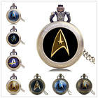 Antique Star Trek Movie Series Captain Kirk Quartz Pocket Watch Necklace Chain on eBay