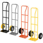 HAND TROLLEY SACK TRUCK INDUSTRIA PNEUMATIC TYRE SOLID WHEEL 600LB UK