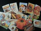BB47 Lot of 16 Adorable THANKS GIVING GREETING CARD DIE CUTS for crafts making