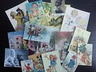 BB14 -- Lot of 16 Vintage Dogs Lover Greeting Card DIE CUTS for CARD MAKING