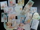 BB38 Lot of 18 Adorable VINTAGE FAIRIES GREETING DIE CUTS 4 crafts making