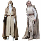 Star Wars 8 The Last Jedi Luke Skywalker Outfit Cosplay Costume Brown Robe  MM