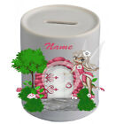Personalised Money Box / Piggy Bank - Name - Fairy - Styles 1-9