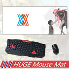 Kawii Anime Darling In The Franxx Mouse Pad Mat Large Gaming Mousepad 30x70cm