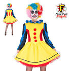 Womens Scary Clown Classic Killer Joker Circus Halloween Fancy Dress Costume