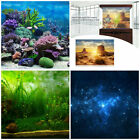 Underwater 4 Styles Aquarium Background Poster Fish Tank Wall Decoration Stickes