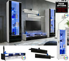 Modern Living Room Set Cupboard Stand Gloss TV Unit Cabinet Furniture Wall Shelf