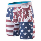 Stance Men's Digi Camo Flag Boxer Brief Underwear Red Undies Patriotic Americana