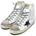 Golden Goose Women's FRANCY High Top Sneakers White Flag Leather GCOWS591 M2