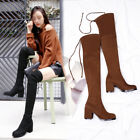 Womens High Heels Strappy SHoe Ladies Sexy Soft Over The Knee THigh High Boots