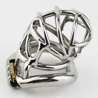 New Ring Design Stainless Steel Bird Cage Male Chastity Belt Devices Lock S065