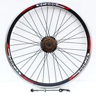 """26"""" QUICK RELEASE MOUTAIN BIKE REAR WHEEL WITH SHIMANO FREEWHEEL FITTED"""