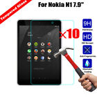 "10Pcs  9H+ Premium Tempered Glass Screen Protector For Nokia N1 7.9"" inch Tablet"