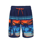 Men's Quick Dry Drawstring Waist Swim Trunks Board Shorts with Mesh Lining